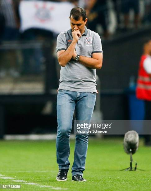 Fabio Carille headcoach of Corinthians in action during the match against Fluminense for the Brasileirao Series A 2017 at Arena Corinthians Stadium...