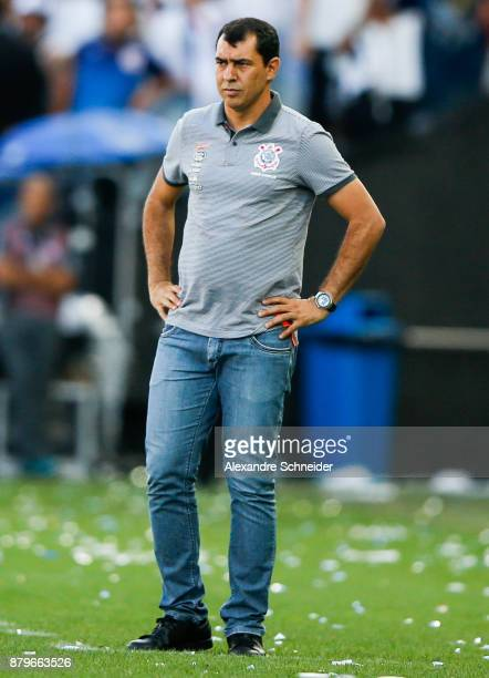 Fabio Carille headcoach of Corinthians in action during the match against Atletico MG for the Brasileirao Series A 2017 at Arena Corinthians Stadium...