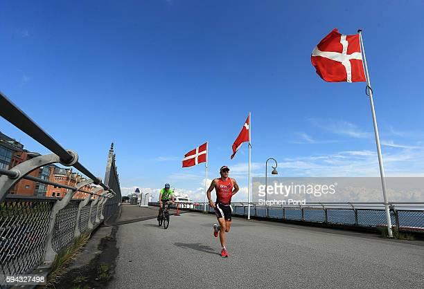 Fabio Carvalho of Brazil on the run course during Ironman Copenhagen on August 21 2016 in Copenhagen Denmark