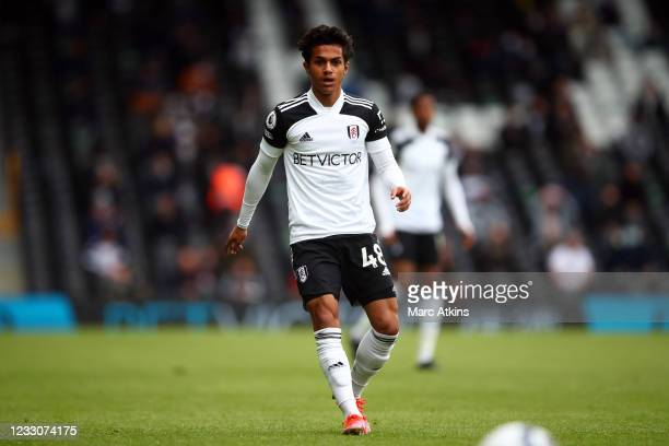 Fabio Carvalho of Fulham during the Premier League match between Fulham and Newcastle United at Craven Cottage on May 23, 2021 in London, United...
