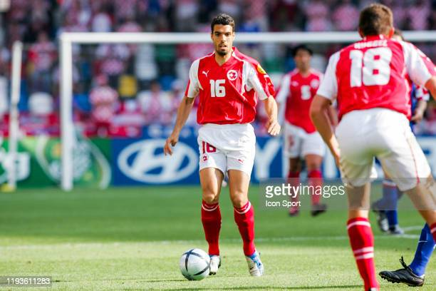 Fabio CELESTINI of Switzerland during the European Championship match between Switzerland and Croatia at Estadio Dr. Magalhaes Pessoa, Leiria,...