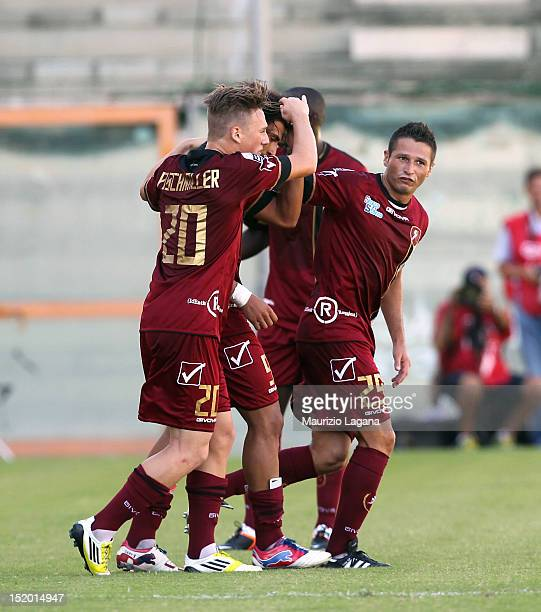 Fabio Ceravolo of Reggina celebrates his team's opening goal during the Serie B match between Reggina Calcio and FC Modena at Stadio Oreste Granillo...
