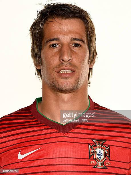 Fabio Coentrao of Portugal poses during the official FIFA World Cup 2014 portrait session on June 12 2014 in Sao Paulo Brazil