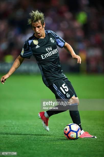 Fabio Contra of Real Madrid CF in action during the La Liga match between Granada CF v Real Madrid CF at Estadio Nuevo Los Carmenes on May 6 2017 in...