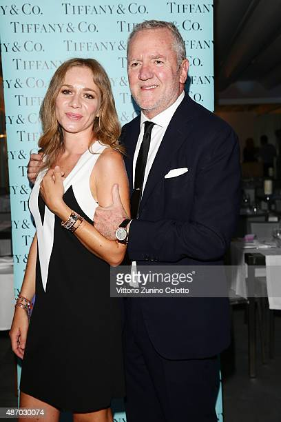 Fabio Conversi and Benedetta Conversi attend a cocktail reception for 'The Wait' hosted by Tiffany & Co. During the 72nd Venice Film Festival at...