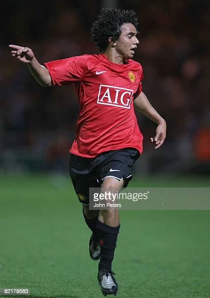 Fabio Da Silva of Manchester United in action during the pre-season friendly match between Peterborough United and Manchester United at London Road...
