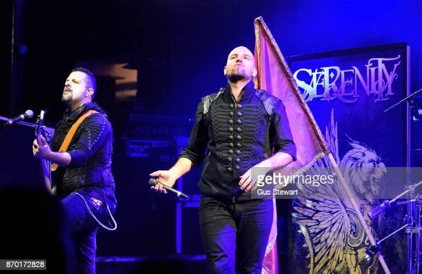 Fabio D'Amore and Georg Neuhauser of Serenity perform live on stage at KOKO on November 1 2017 in London England