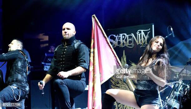 Fabio D'Amore Georg Neuhauser and Natascha Koch of Serenity perform live on stage at KOKO on November 1 2017 in London England