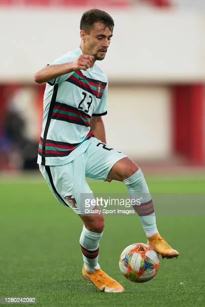 Fabio Daniel Ferreira Vieira of Portugal U21 in action during the UEFA Euro Under 21 Qualifier match between Gibraltar U21 and Portugal U21 at...
