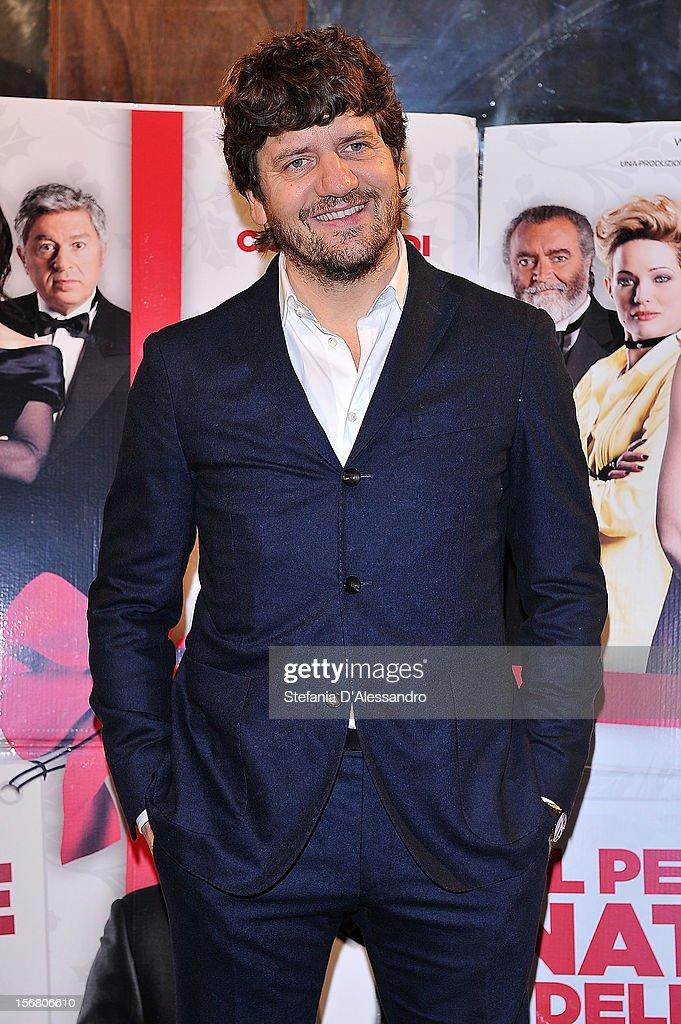 Fabio De Luigi attends 'Il Peggior Natale Della Mia Vita' Premiere on November 21, 2012 in Milan, Italy.