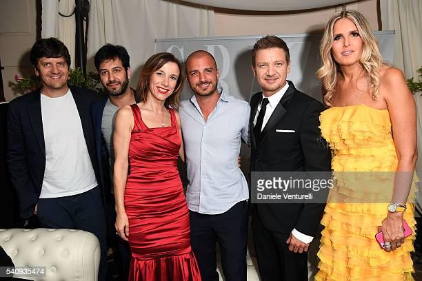Fabio De Luigi Matteo Branciamore Silvia Grilli Nicolas Vaporidis Jeremy Renner and Tiziana Rocca attend Baume Mercier 62 Taormina Film Fest on June...