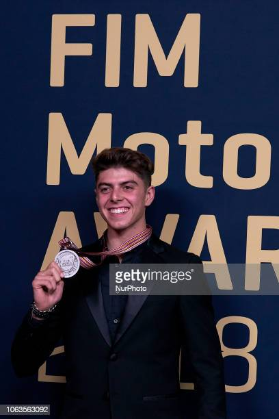 Fabio Di Giannantonio during the FIM Awards Ceremony after the Gran Premio Motul de la Comunitat Valenciana in Palacio de Congresos of Valencia Spain...
