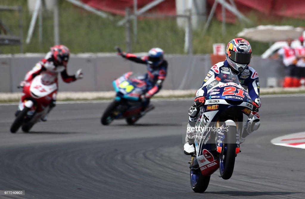 Fabio Di Giannantonio During The Moto 3 Gp Catalunya Moto Gp On