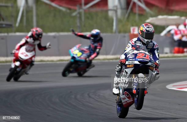 Fabio Di Giannantonio during the Moto 3 GP Catalunya Moto GP on 17th June in Barcelona Spain