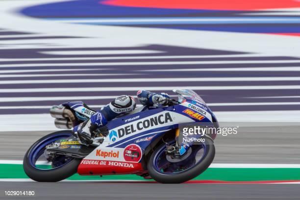Fabio Di Giannantonio of Del Conca Gresini during the free practice 2 of Moto 3 of the OCTO Grand Prix of San Marino e della Riviera di Rimini at...