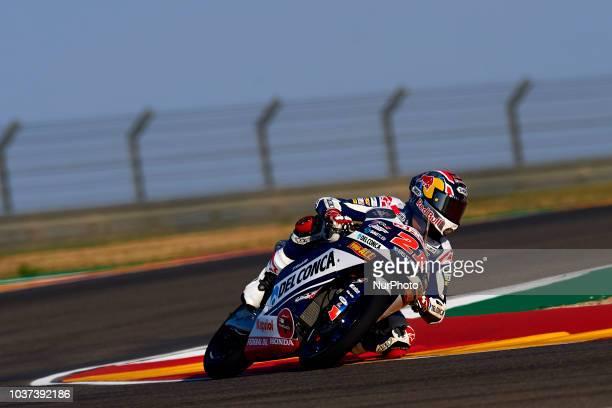 Fabio Di Giannantonio Of Italy And Del Conca Gresini Moto3 during free practice for the Gran Premio Movistar de Aragon of world championship of...
