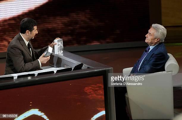 Fabio Fazio and Alberto Arbasino appear on 'Che Tempo Che Fa' Italian Tv Show on January 24 2010 in Milan Italy