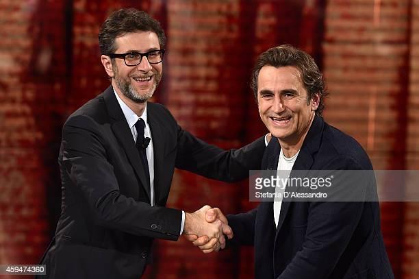 Fabio Fazio and Alex Zanardi attend 'Che Tempo Che Fa' TV Show on November 23 2014 in Milan Italy