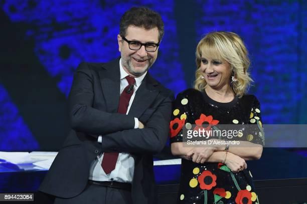 Fabio Fazio and Luciana Littizzetto attend Che Tempo Che Fa Tv Show on December 17 2017 in Milan Italy
