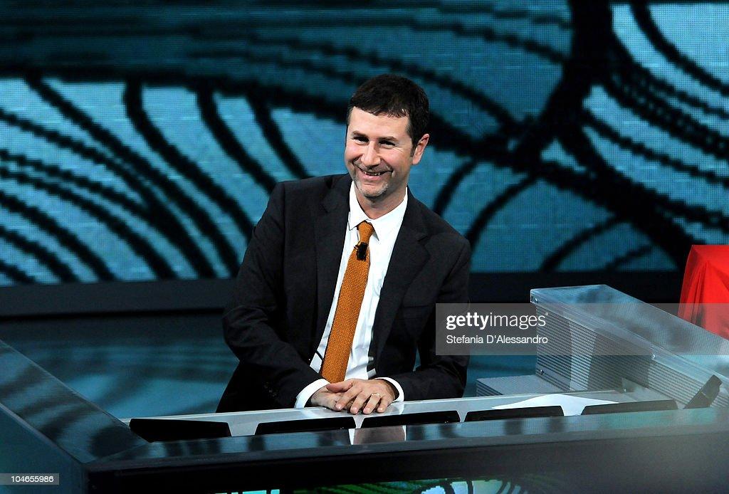 Fabio Fazio attends 'Che Tempo Che Fa' Italian Tv Show held at Rai Studios on October 2, 2010 in Milan, Italy.