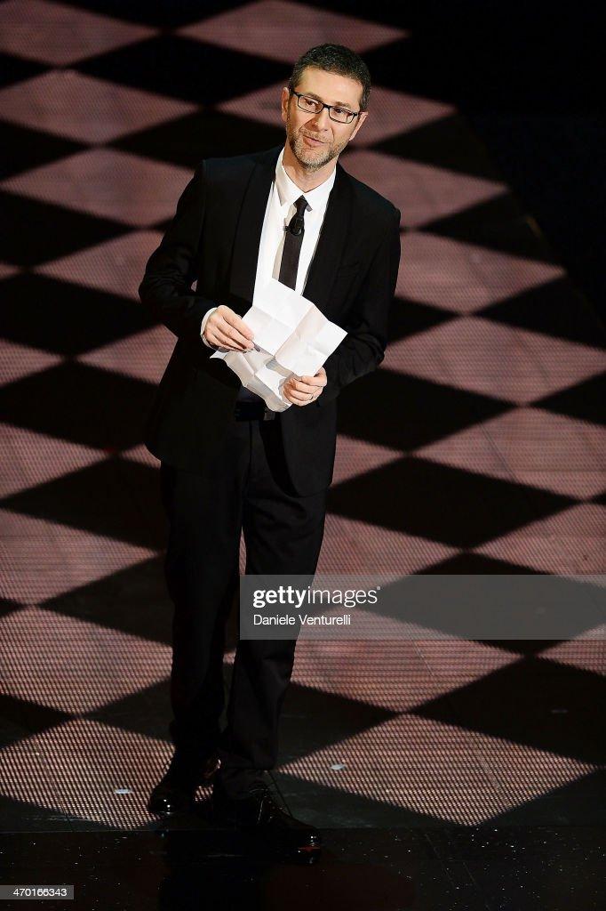 Fabio Fazio attends the opening night of the 64th Festival di Sanremo 2014 at Teatro Ariston on February 18, 2014 in Sanremo, Italy.
