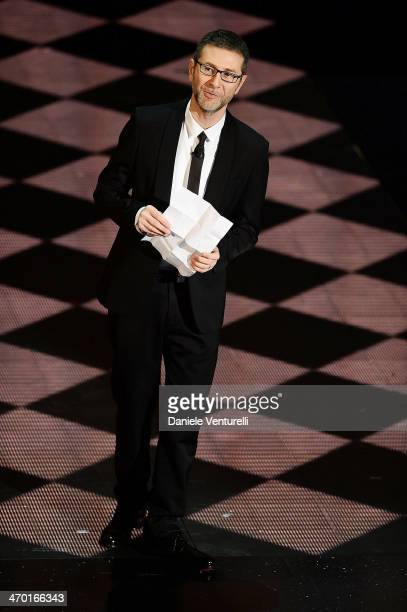 Fabio Fazio attends the opening night of the 64th Festival di Sanremo 2014 at Teatro Ariston on February 18, 2014 in Sanremo, Italy.
