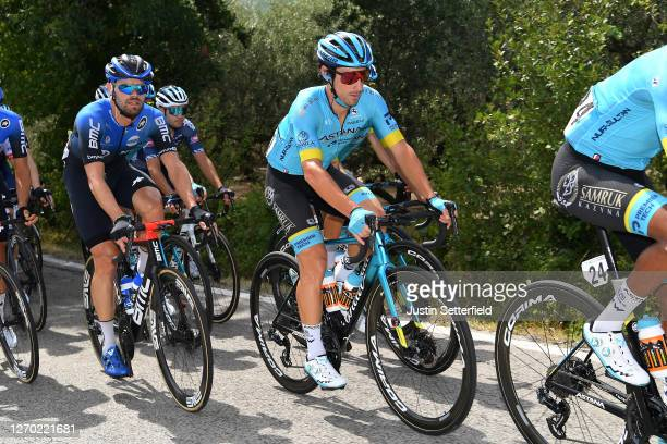 Fabio Felline of Italy and Astana Pro Team / Reinardt Janse Van Rensburg of South Africa and NTT Pro Cycling Team / during the 35th Settimana...