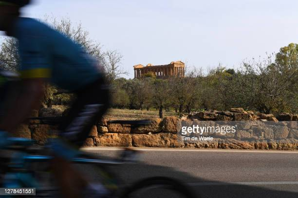 Fabio Felline of Italy and Astana Pro Team / Temple of Concordia / Valley of the Temples in Agrigento / Peloton / Landscape / during the 103rd Giro...