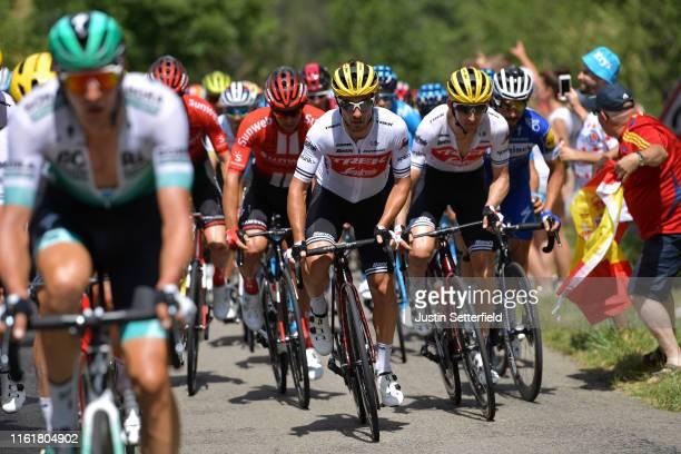 Fabio Felline of Italy and Team Trek-Segafredo / Bauke Mollema of The Netherlands and Team Trek-Segafredo / Peloton / during the 106th Tour de France...