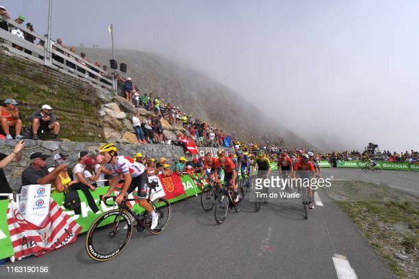 Fabio Felline of Italy and Team Trek-Segafredo / Christopher Juul Jensen of Denmark and Team Mitchelton-Scott / Sonny Colbrelli of Italy and Team...