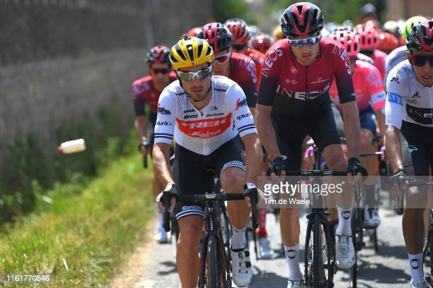 Fabio Felline of Italy and Team Trek-Segafredo / Gianni Moscon of Italy and Team INEOS / during the 106th Tour de France 2019, Stage 8 a 200km stage...