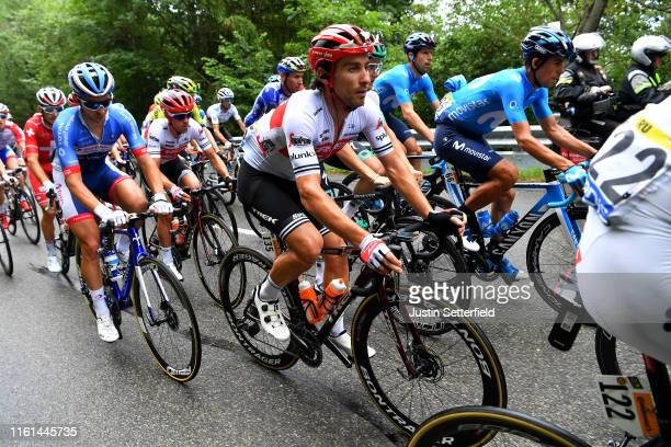 Fabio Felline of Italy and Team Trek-Segafredo / Nelson Oliveira of Portugal and Movistar Team / during the 106th Tour de France 2019, Stage 6 a...