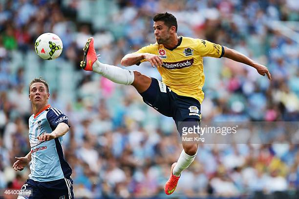 Fabio Ferreira of the Mariners controls the ball during the round 18 ALeague match between Sydney FC and the Central Coast Mariners at Allianz...