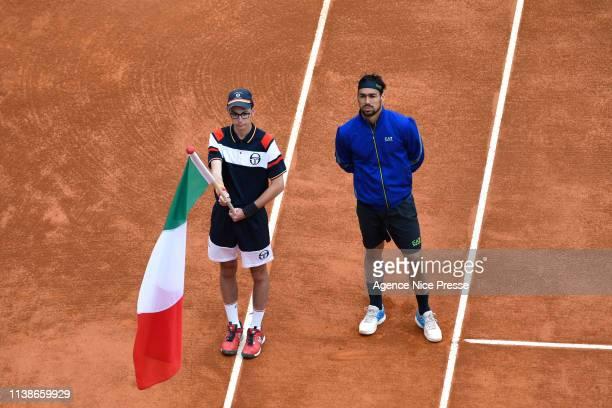 Fabio Fognini of Italy during the 2019 Monte Carlo Rolex Masters 1000 day one on April 21 2019 in Monaco Monaco