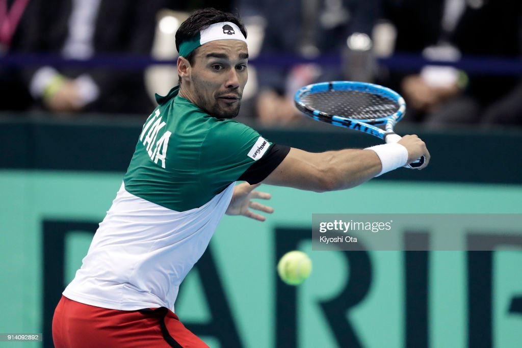 Japan v Italy - Davis Cup World Group 1st Round - Day 3 : News Photo