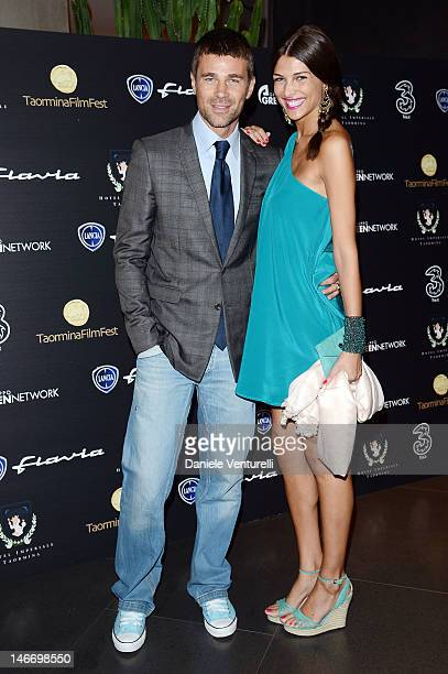 Fabio Fulco and Cristina Chiabotto attend the 'Preopening Gala Dinner' during the 58th Taormina Film Fest at Hotel Imperiale on June 22 2012 in...