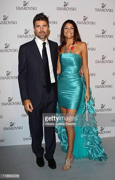 Fabio Fulco and Cristina Chiabotto attend the Swarovski Fashionation at Palazzo Reale on June 7 2011 in Milan Italy