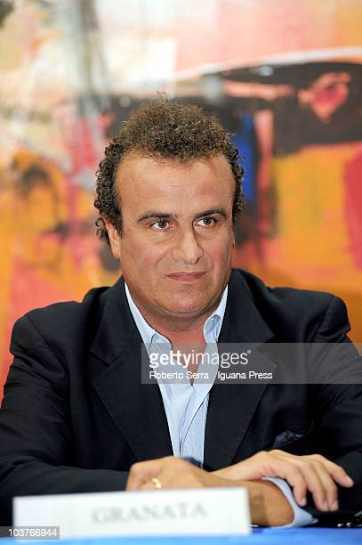 Fabio Granata attends to the Festa Tricolore on August 31 2010 in Mirabello near Ferrara Italy The Festa Tricolore is organized by the...