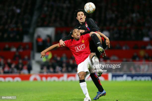 ANDERSON / Fabio GROSSO Manchester United /Lyon Champions League 2007/2008 Photo Dave Winter / Icon Sport
