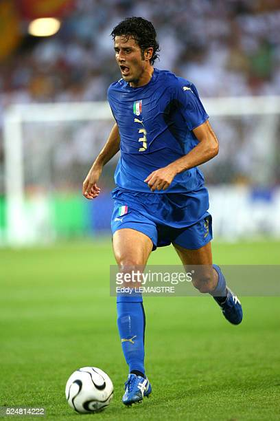 Fabio Grosso during the FIFA World Cup 2006 semi final match between Germany and Italy in Dortmund Germany Italy won 20 in extra time