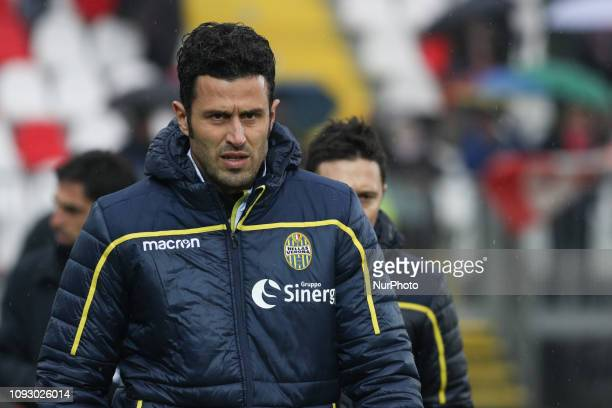 Fabio Grosso during the Serie B match between Carpi and Hellas Verona at Stadio Sandro Cabassi on February 2 2019 in Carpi Italy