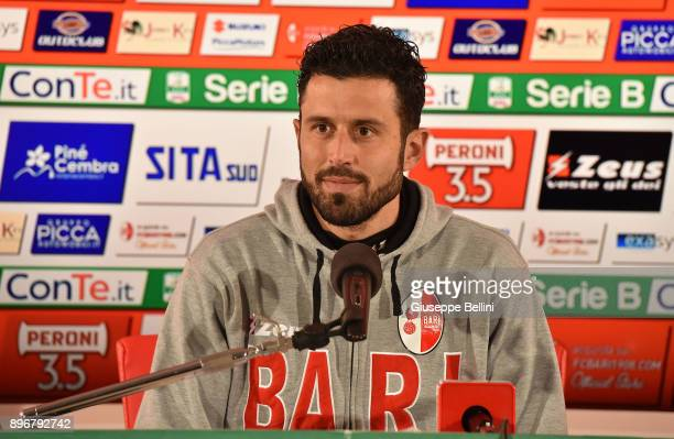 Fabio Grosso head coach of FC Bari during presse conferece after the Serie B match between FC Bari and Parma Calcio at Stadio San Nicola on December...