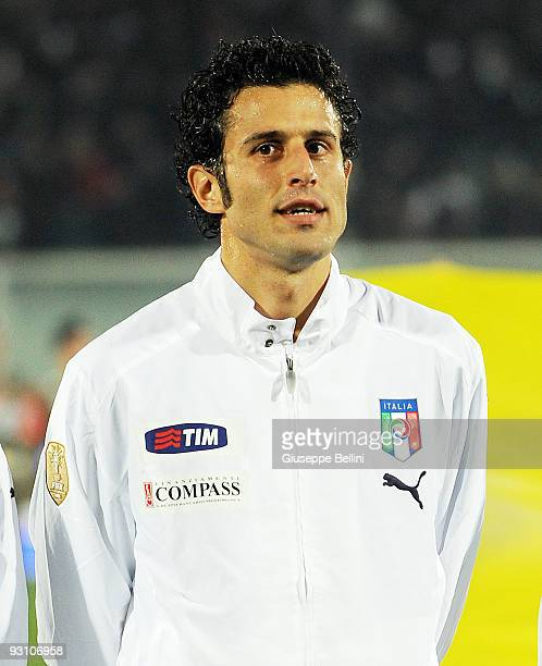 Fabio Grosso of Italy before the International Friendly Match between Italy and Holland at Adriatico Stadium on November 14 2009 in Pescara Italy