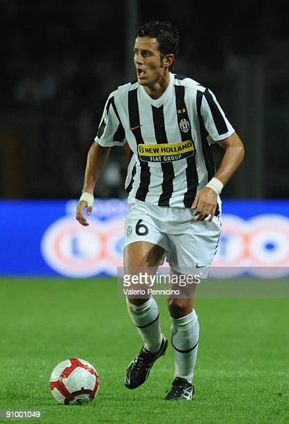 Fabio Grosso of Juventus FC in action during the Serie A match between Juventus FC and AS Livorno at Olimpico Stadium on September 19 2009 in Turin...