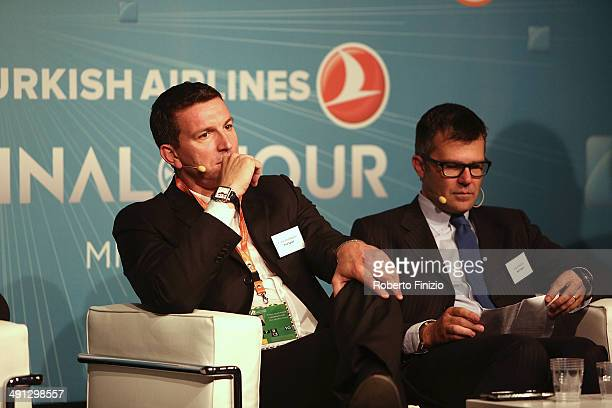 Fabio Guadagnini and Paolo Bellini during the Isportconnect Directors Club in Association with Euroleague Basketball as part of Turkish Airlines...