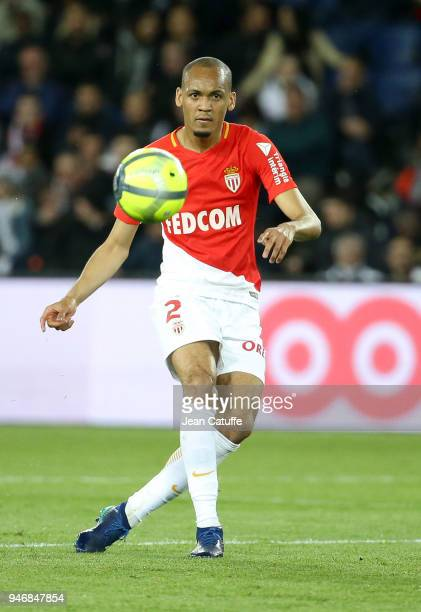 Fabio Henrique Fabinho of Monaco during the Ligue 1 match between Paris Saint Germain and AS Monaco at Parc des Princes stadium on April 15 2018 in...