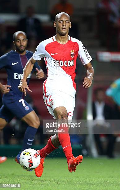 Fabio Henrique Tavares aka Fabinho of Monaco in action during the French Ligue 1 match between AS Monaco and Paris SaintGermain at Stade Louis II on...