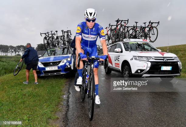 Fabio Jakobsen of Netherlands and Team Quick Step Floors / Mechanical Problem / Mechanic / during the 14th BinckBank Tour 2018, Stage 1 a 177,3km...