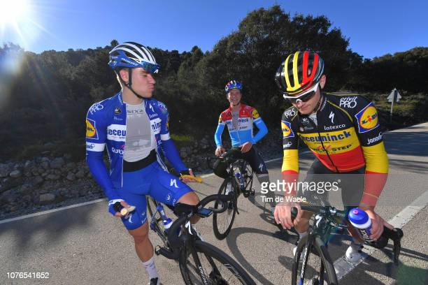 Fabio Jakobsen of The Netherlands and Deceuninck - Quick-Step Team / Bob Jungels of Luxembourg and Deceuninck - Quick-Step Team / Yves Lampaert of...