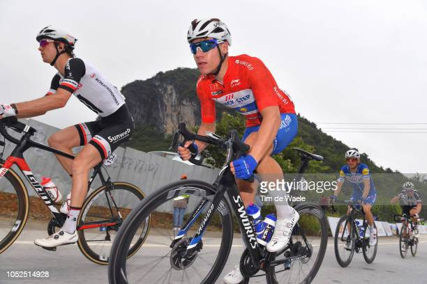 Fabio Jakobsen of The Netherlands and Team Quick-Step Floors Red Leader Jersey / Dries Devenyns of Belgium and Team Quick-Step Floors / Lennard...